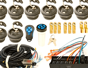 Everything you need to install a Key Captain electronic locking system in your boat or recreational vehicle