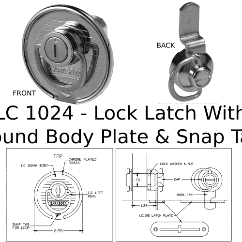 LC 1024 Lock Latch Marine Hardware
