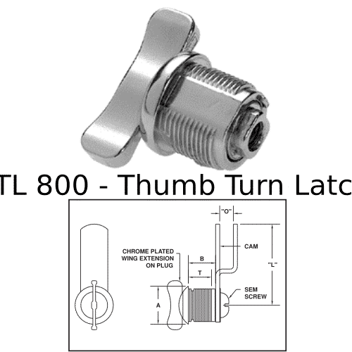 TL 800 Thumb Turn Latch