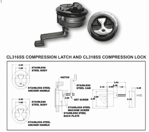 Stainless Steel Water Tight Compression Lock
